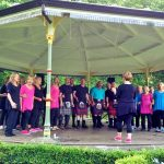 Choir in Bandstand in Dublin