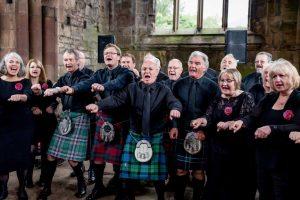 InChorus singing at Wedding at Melrose Abbey