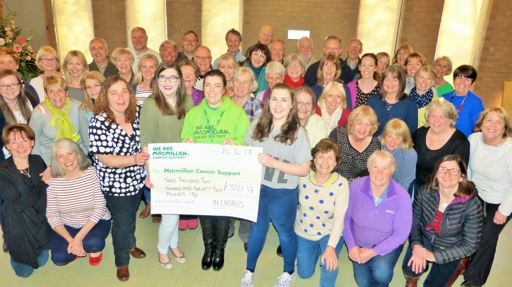 InChorus sing to raise money for Cancer Charity